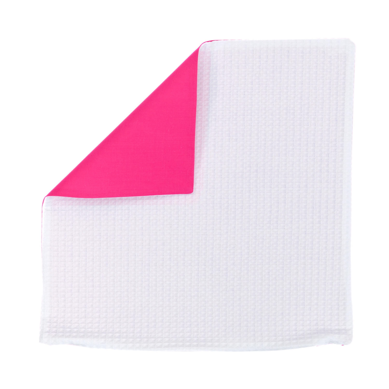 Kissenhülle Zierkissenbezug Kissenbezug ca. 40x40 cm für Kissen oder Dekokissen Weiß Dunkelrosa