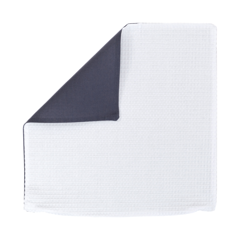 Kissenhülle Zierkissenbezug Kissenbezug ca. 45x45 cm für Kissen oder Dekokissen Weiß Anthrazit