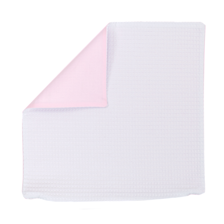 Kissenhülle Zierkissenbezug Kissenbezug ca. 45x45 cm für Kissen oder Dekokissen Weiß Hellrosa