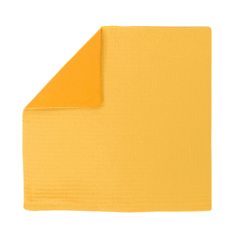 Kissenhülle Zierkissenbezug Kissenbezug ca. 50x50 cm für Kissen oder Dekokissen Gelb Senfgelb
