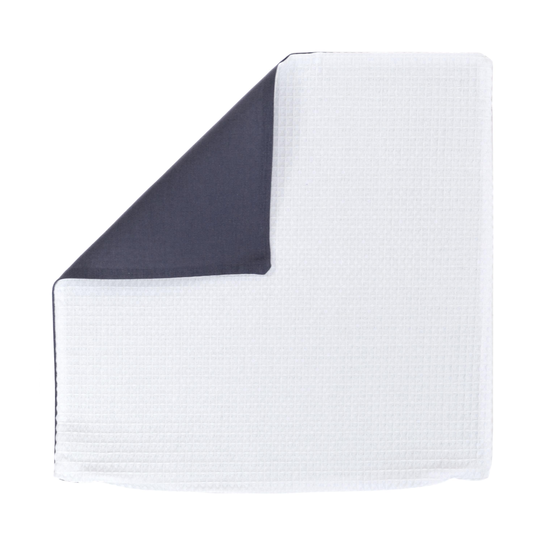 Kissenhülle Zierkissenbezug Kissenbezug ca. 50x50 cm für Kissen oder Dekokissen Weiß Anthrazit