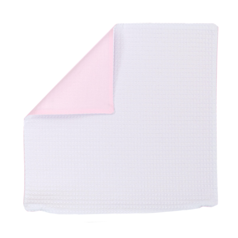 Kissenhülle Zierkissenbezug Kissenbezug ca. 50x50 cm für Kissen oder Dekokissen Weiß Hellrosa