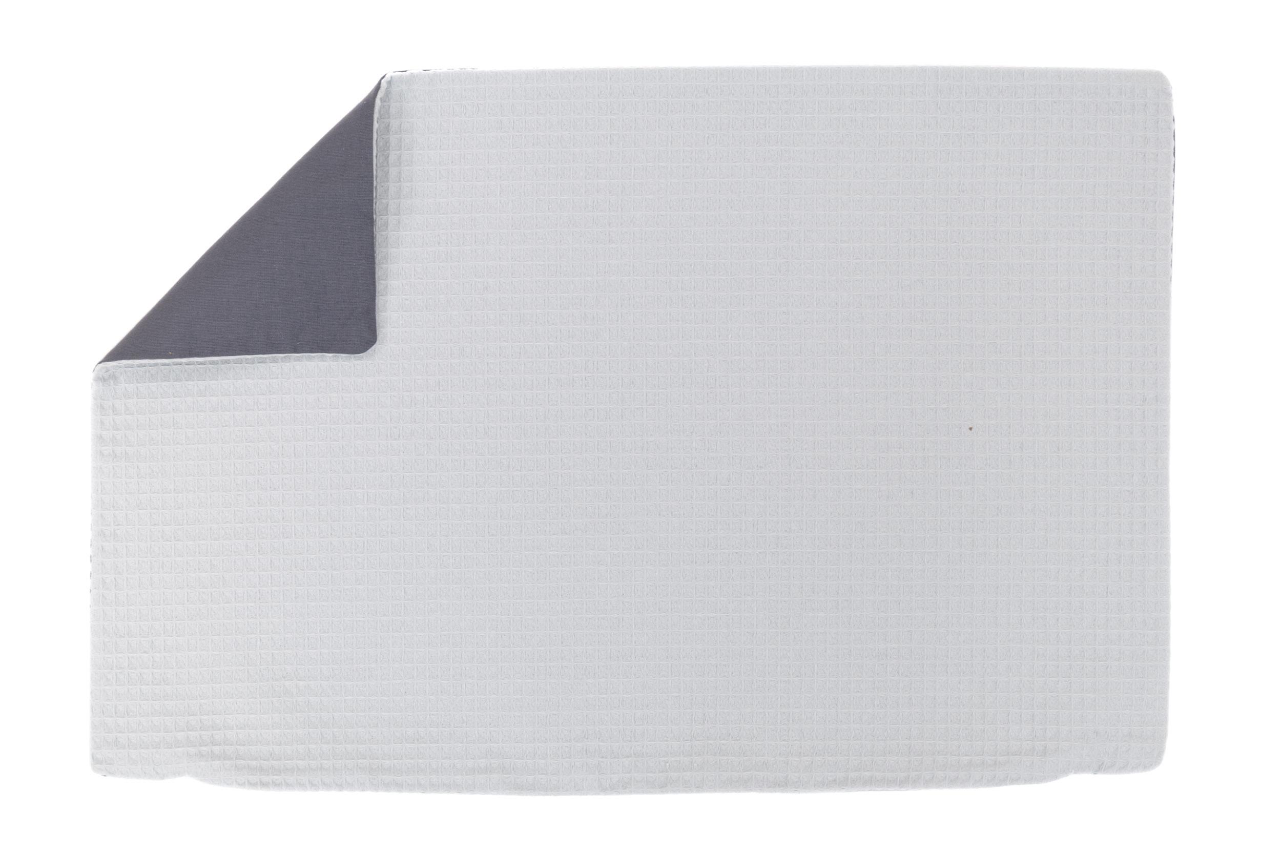 Kissenhülle Zierkissenbezug Kissenbezug ca. 60x40 cm für Kissen oder Dekokissen Hellgrau Anthrazit