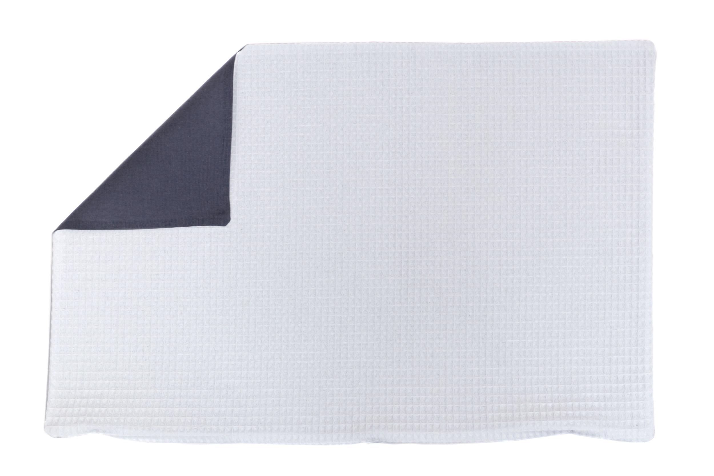 Kissenhülle Zierkissenbezug Kissenbezug ca. 60x40 cm für Kissen oder Dekokissen Weiß Anthrazit