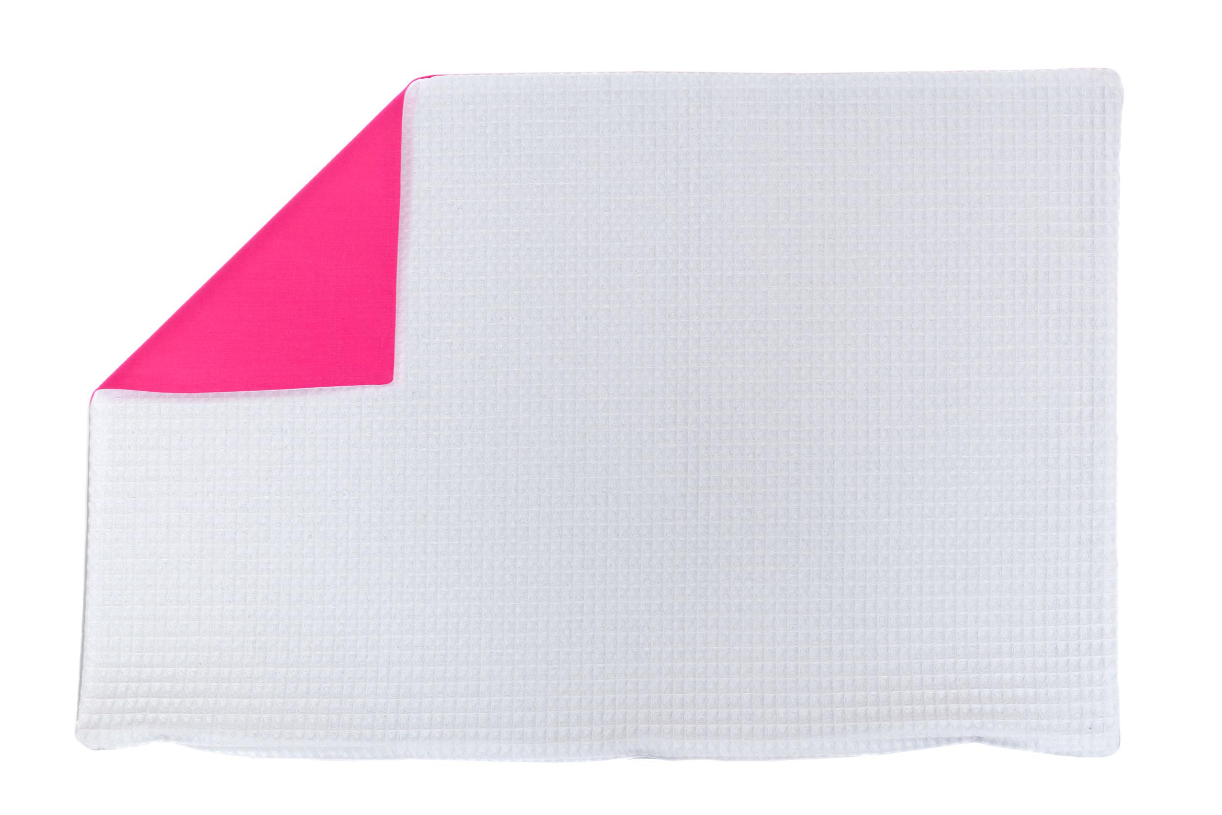 Kissenhülle Zierkissenbezug Kissenbezug ca. 60x40 cm für Kissen oder Dekokissen Weiß Dunkelrosa