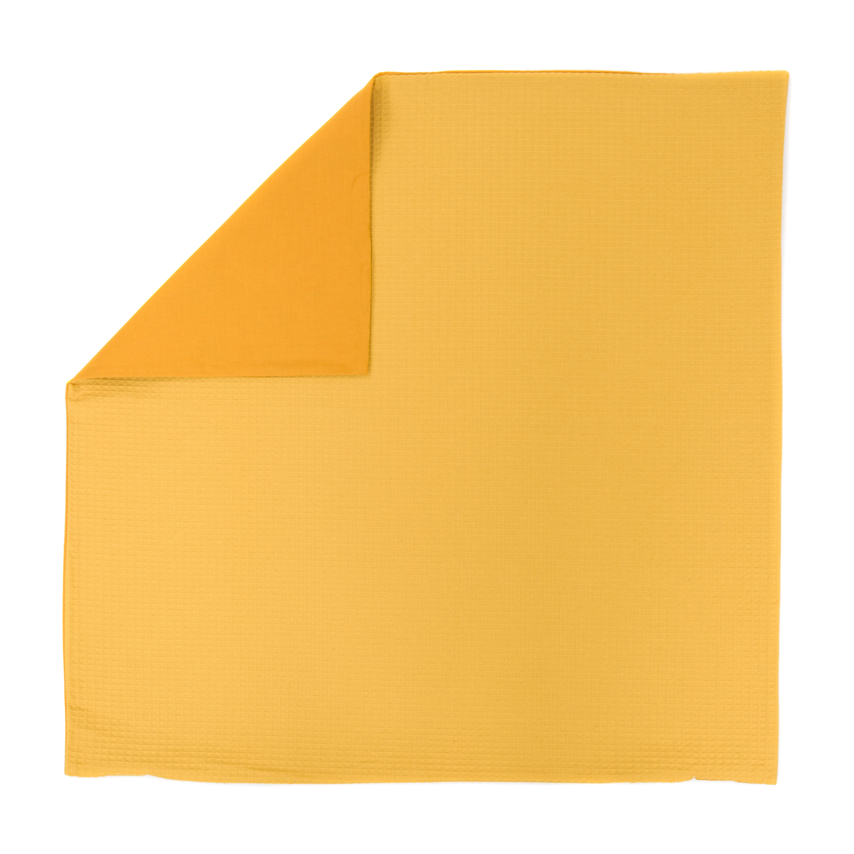 Kissenhülle Zierkissenbezug Kissenbezug ca. 80x80 cm für Kissen oder Dekokissen Gelb Senfgelb