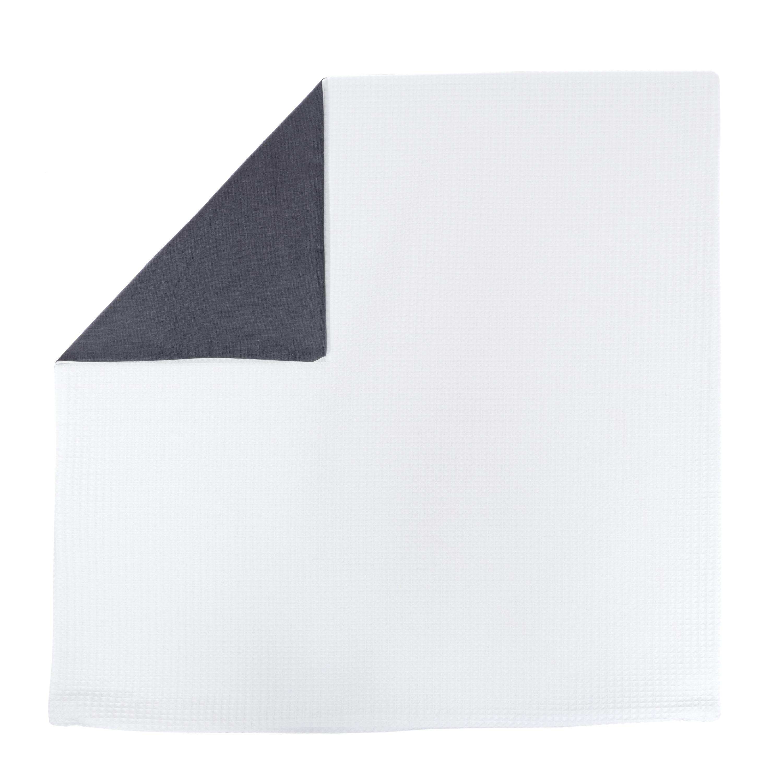 Kissenhülle Zierkissenbezug Kissenbezug ca. 80x80 cm für Kissen oder Dekokissen Weiß Anthrazit