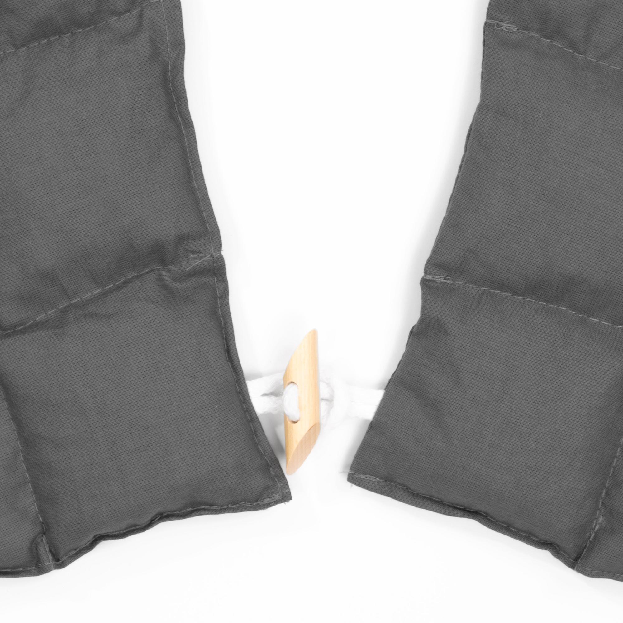 Kirschkernkissen Nackenhörnchen mit Rückenteil und Stehkragen Nackenwärmer Anthrazit