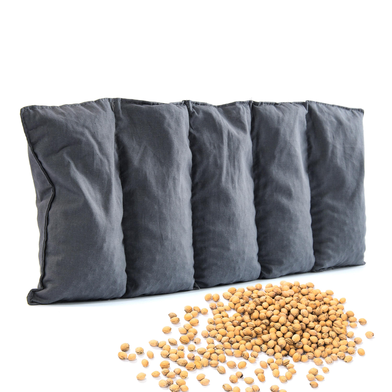 Kirschkernkissen 55 x 20cm Wärmekissen Wärmekompresse für Kinder Erwachsene  Anthrazit