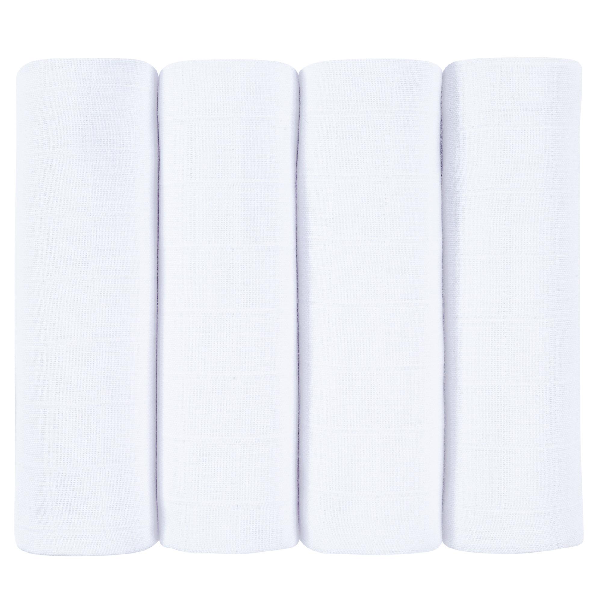 4er Pack Mullwindeln Mulltücher Spucktücher Musselin 70x80cm Premium Qualität SET4